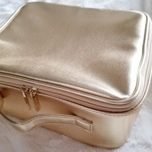 BAREMINERALS gold cosmetic case/bag